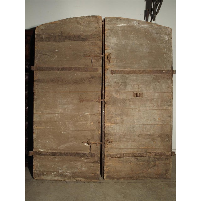 1700s Antique French Oak Doors From Burgundy- A Pair For Sale - Image 4 of 13