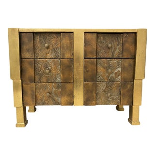 Mid 20th Century Deco Style Carved & Gilded Jewelry Box For Sale