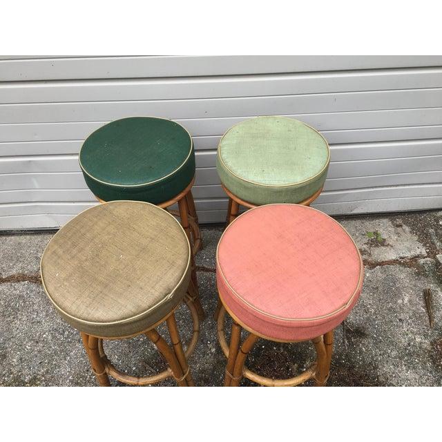 Heywood Wakefield Bamboo Barstools - Set of 4 - Image 3 of 6