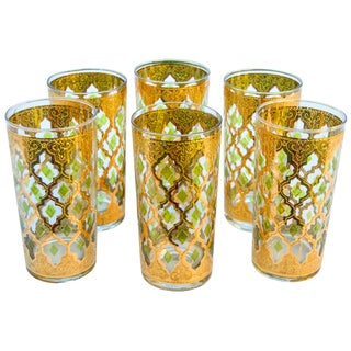 Mid-Century Golden Highballs, S/6 For Sale