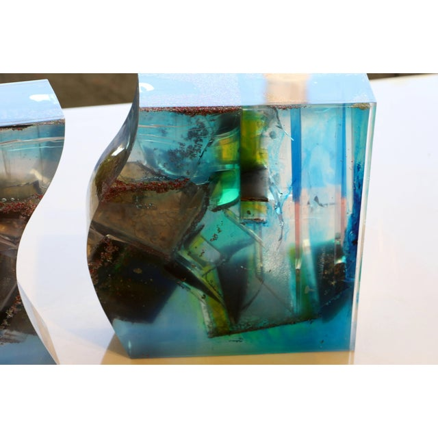 Bijan Bahar Lucite and Epoxy Resin Sculpture Yin Yang For Sale In Palm Springs - Image 6 of 10