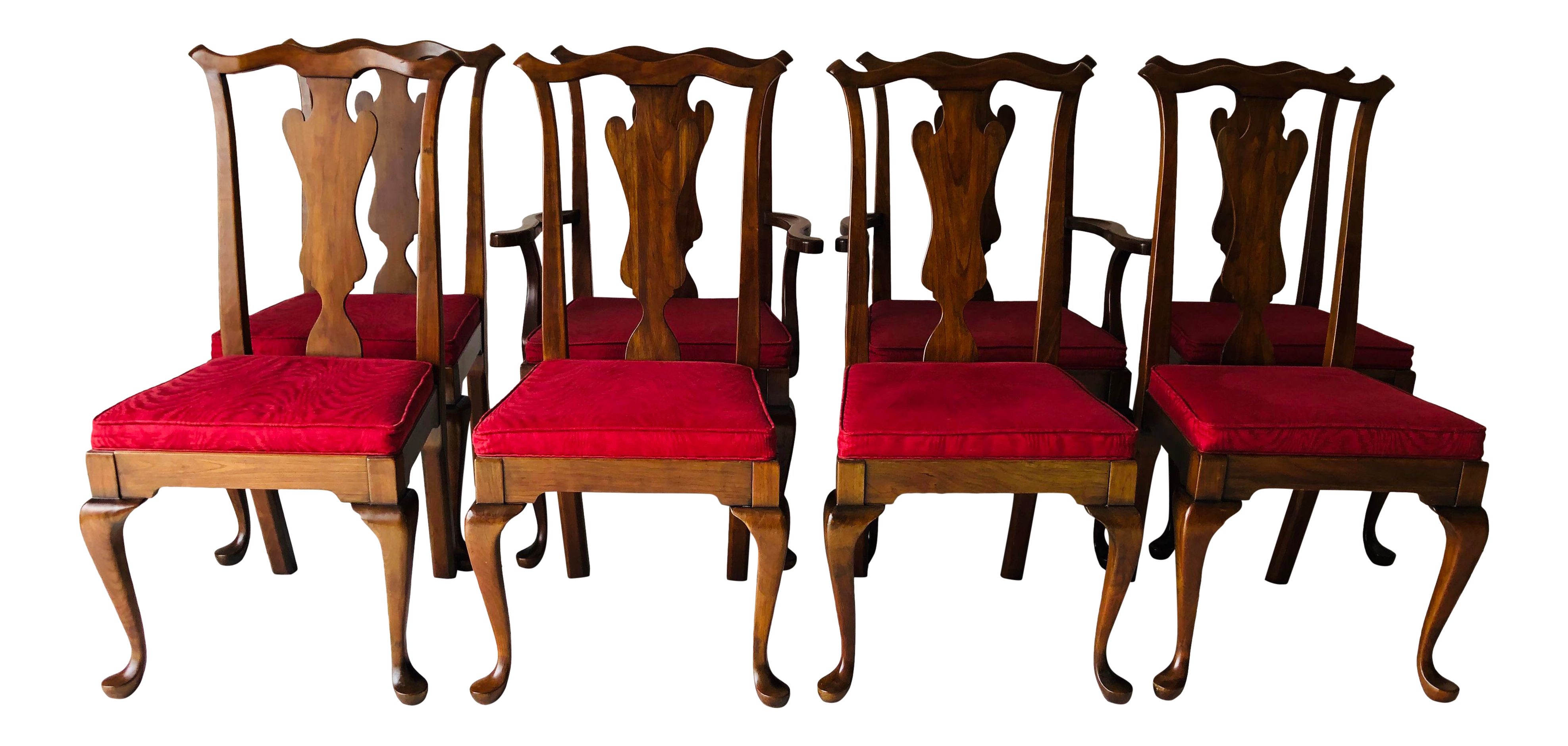 1960u0027s Cherry Pennsylvania House Dining Chairs S/8