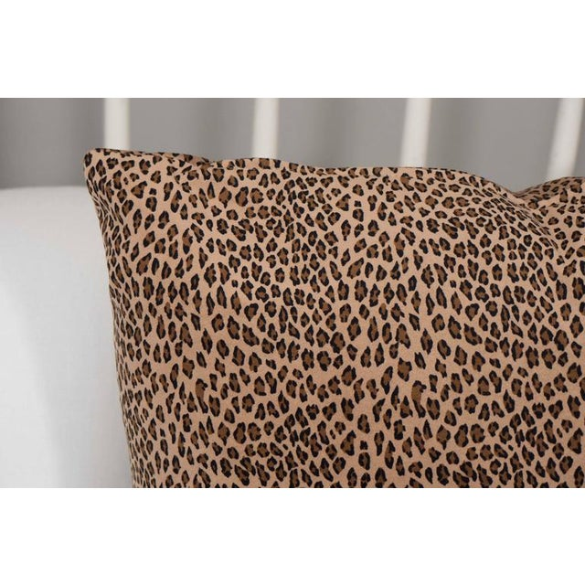 A Pair Cheetah Print Pillows For Sale - Image 4 of 5