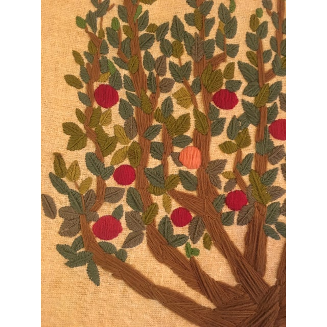 Vintage Tree of Life Tapestry For Sale - Image 4 of 6