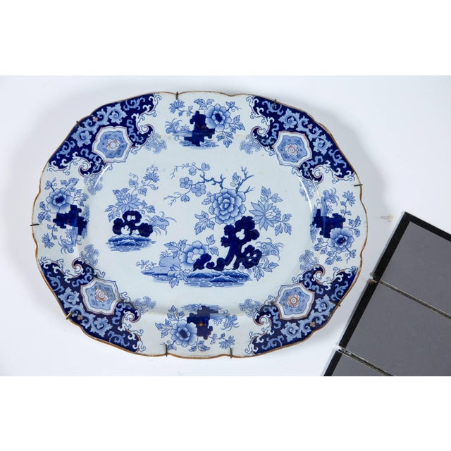 Chinoiserie ironstone platter, Ridgway & Morley, England, circa 1845. A beautifully articulated transferware design with...