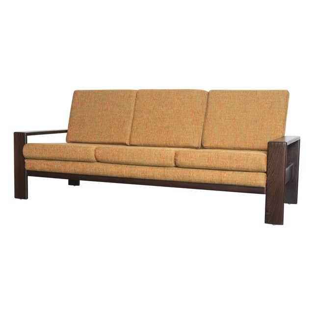 Wenge Modern 1970's Three-Seater Sofa - Image 1 of 11
