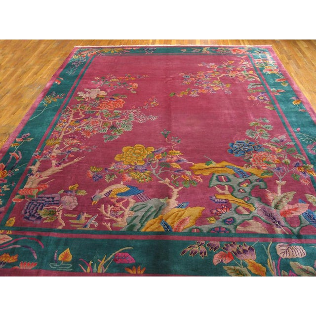 We love rose/pink Art Deco Chinese carpets and they must have been popular in the interwar period also. A jade green...