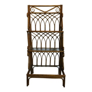 1970s Boho Chic 3-Tier Bamboo Étagère For Sale