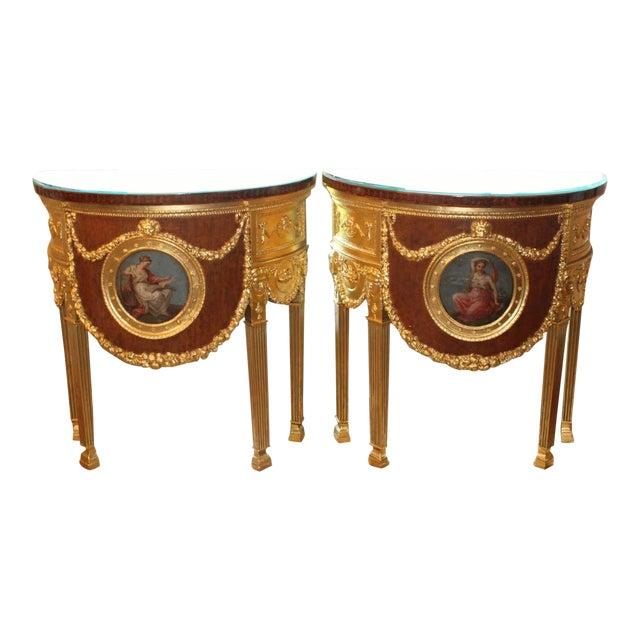 1920s Louis XVI Style Consoles - a Pair For Sale