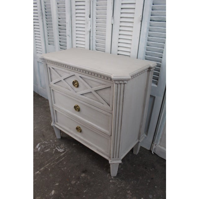 Mid-Century Modern 20th Century Swedish Gustavian Style Nightstands - A Pair For Sale - Image 3 of 11
