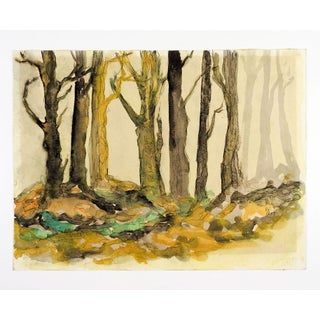 Mysterious Forest Watercolor Painting Preview