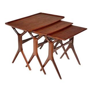 1960s Danish Teak Nesting Tables, Set of 3