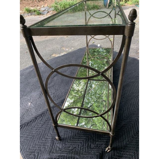 Drexel Heritage Drexel Heritage Glass Console For Sale - Image 4 of 8