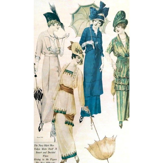 Framed Antique Fashion Advertisements- A Pair - Image 7 of 8