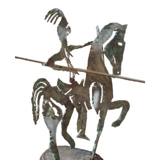 Vintage Weinberg Style Etruscan Horse Sculpture For Sale