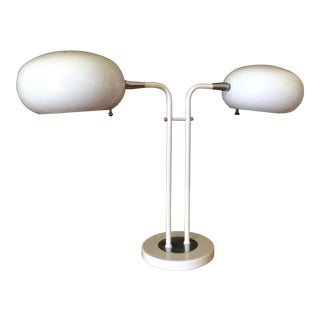 1970's White Mod Space Age Desk Lamp
