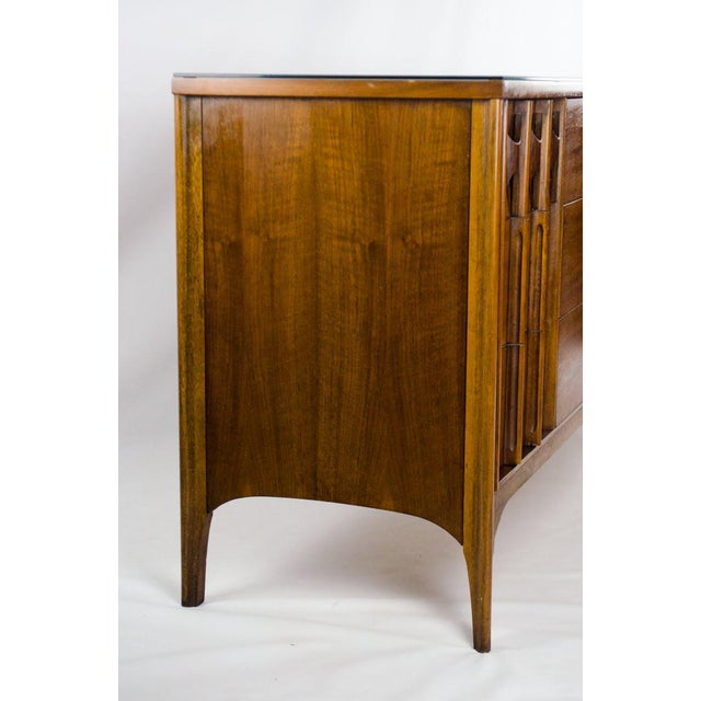 Kent Coffey Perspecta Walnut and Rosewood Credenza For Sale - Image 11 of 13