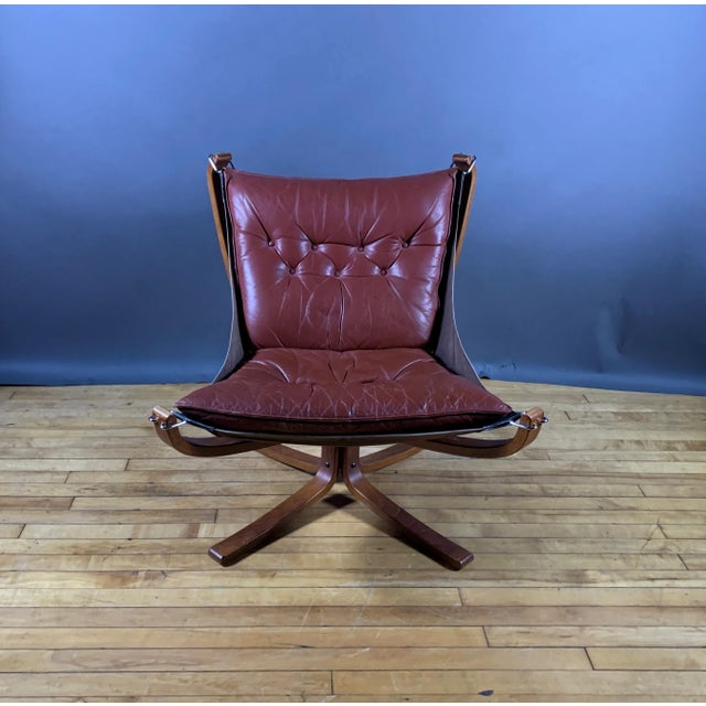 """Sigurd Ressell Low Back """"Falcon"""" Chair, 1970s, Norway For Sale In New York - Image 6 of 11"""