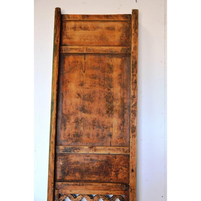 1960s Antique Chinese Rustic Panel Door For Sale - Image 5 of 8