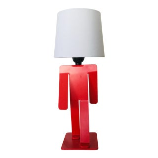 "1990s Memphis Hextra ""Walking Man"" Lamp For Sale"