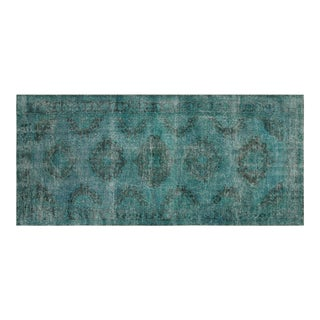 "Nalbandian - 1950s Overdyed Turkish Rug - 4'11""x 11'11"" For Sale"