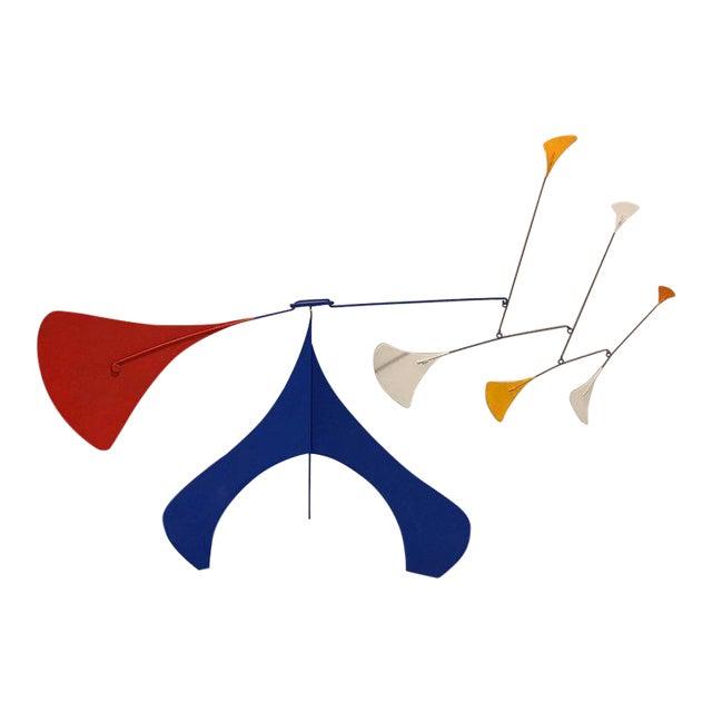 1997 Mid-Century Modern Art Deco Alexander Calder-Style Table Sculpture For Sale