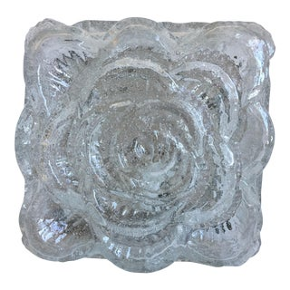 Ice Glass Rose Flush Light by Erco Leuchten For Sale