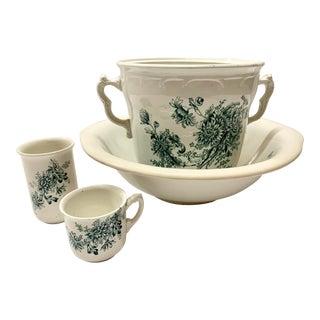 Antique Wash Basin Set - Set of 4 For Sale
