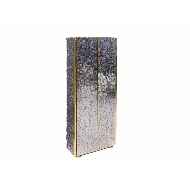 Metal Kam Tin - Tall Pyrite Cabinet, France, 2017 For Sale - Image 7 of 8