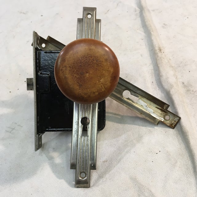 Antique Art Deco Mortise Lock Box With Door Knobs For Sale In Washington DC - Image 6 of 12