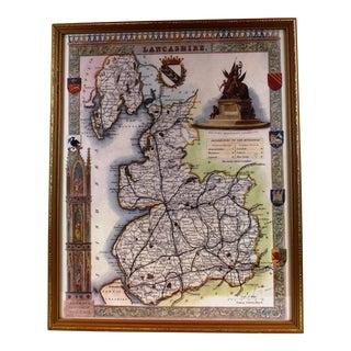 Pasargad N Y Lancashire Map Print For Sale