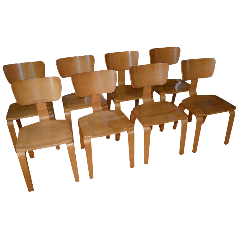 Charmant Dining Chairs By Thonet Of Rock Maple And Bentwood. Set Of 8