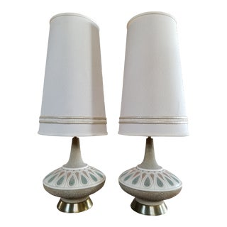 Quartite Creations Mid-Century Modern Lamps - a Pair For Sale