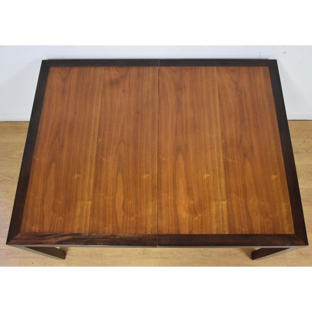 Edward Wormley for Dunbar Mahogany and Walnut Dining Table For Sale - Image 9 of 11