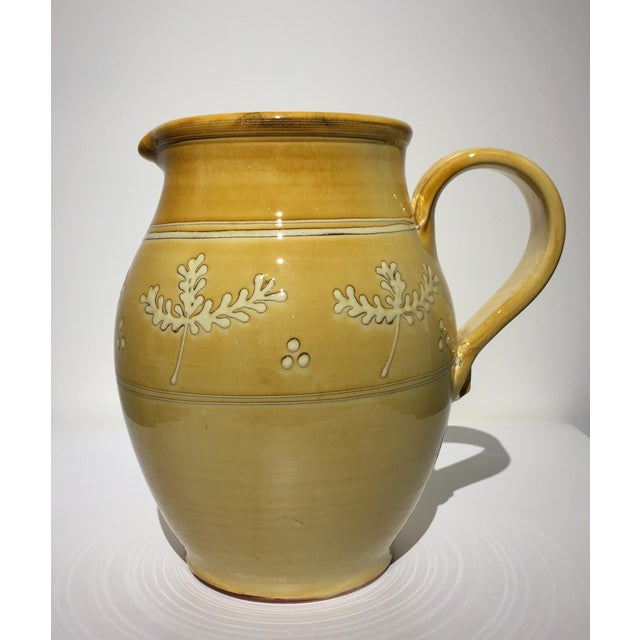 French Pottery Leaf Pitcher - Image 2 of 7