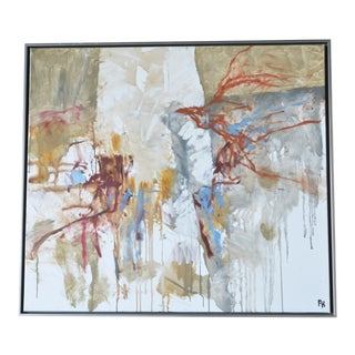 """Composition"" Framed Painting by Frank Hammershøj For Sale"