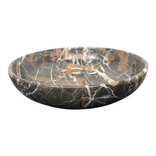 Black, Tan and Ivory Marble Bowl For Sale