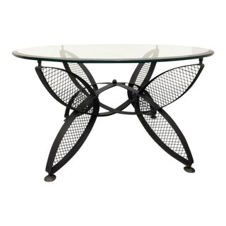 1960s Maurizio Tempestrini for John Salterini Iron Butterfly Base Coffee Table