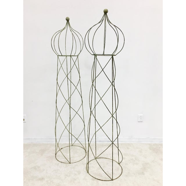 English Traditional Trellis Topiary 8 ' Tall - Set of 2 For Sale - Image 3 of 6