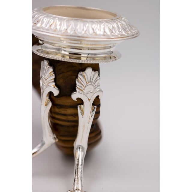 Scottish Rams Horn and Silver Candle Holder, Mid-19th Century For Sale In San Francisco - Image 6 of 9