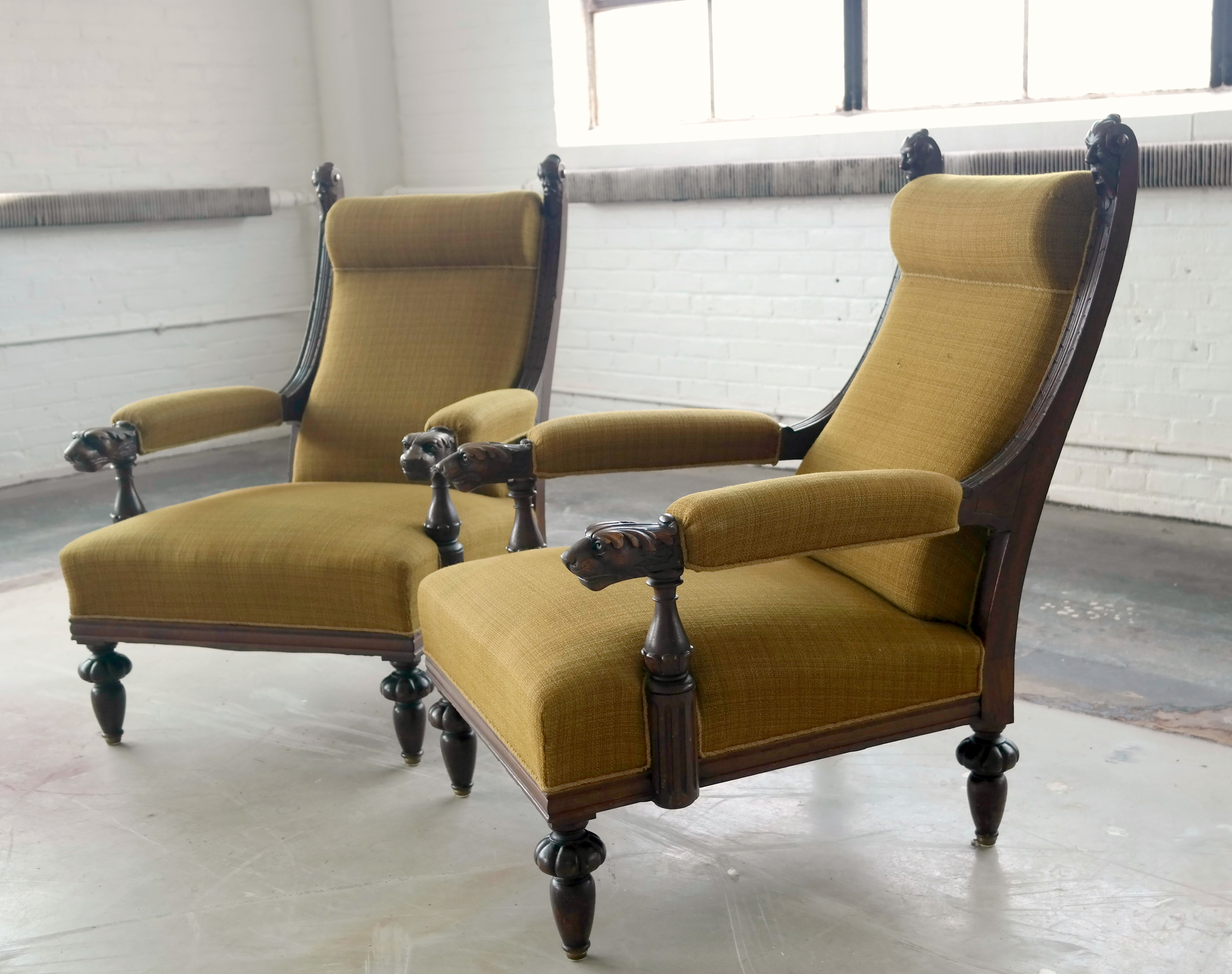 Rare Thorvald Bindesbøll Antique Armchairs   Pair   Image 2 Of 11