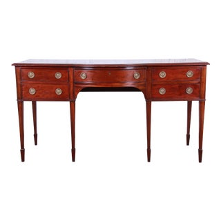Antique English Hepplewhite Style Mahogany Sideboard Buffet For Sale