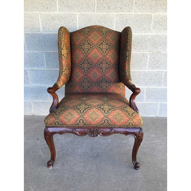Vanguard Sultana French Provincial Wing Back Arm Chair For Sale - Image 9 of 9