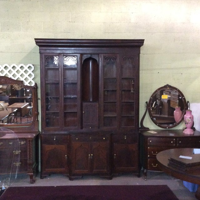 Red Mahogany Classical Gentleman's Secretary Bookcase For Sale - Image 8 of 8