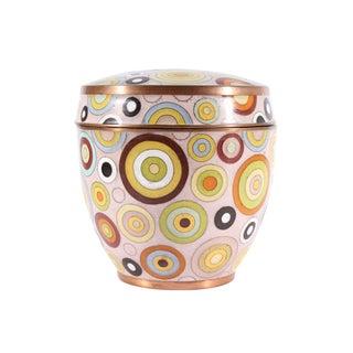 Fabienne Jouvin Paris Rhondo French Cloisonné Enamel Jar For Sale