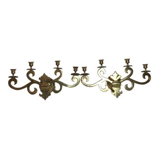 Brass Wall Candelabra - a Pair