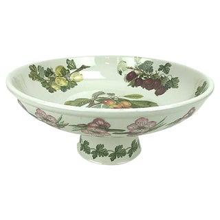 Botanical Ceramic Pedestal Bowl For Sale