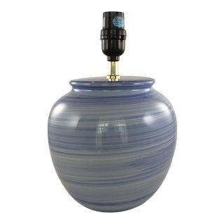 Ceramic Blue Gourd Table Lamp For Sale