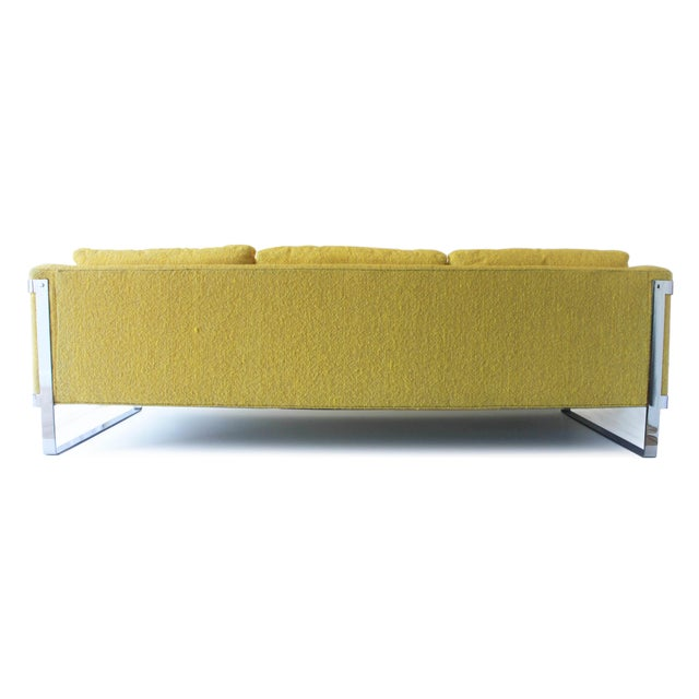 1970s Vintage Milo Baughman Style Sofa For Sale - Image 4 of 10