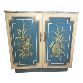 Hand-Painted Hollywood Regency 1940s Commodes - a Pair For Sale